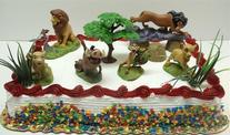 Lion King Birthday Cake Topper Set Featuring Mufassa, Zazu,