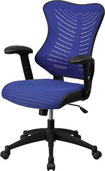High Back Blue Designer Mesh Executive Swivel Office Chair