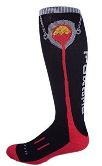 MOXY Socks Black with Red Knee-High Foundry Forged Fitness