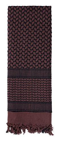 Black and Brown Shemagh, Arab Head Scarf, Kafiya, New