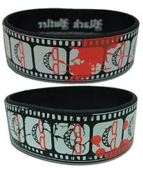 Black Butler - Grell's Cinematic Record PVC Wristband