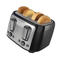 NEW Black & Decker 4 Slice Extra Wide Slot Toaster Black