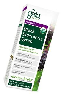 Gaia Herbs Black Elderberry Syrup, 5.4-Ounce Bottle
