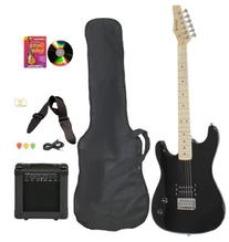 Black Full Size Electric Guitar & Practice Amp with Case