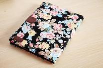 KABB Black Flower Floral Style Wallet Flip Magnet Stand