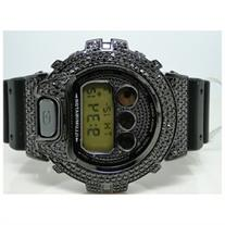 All Black G-Shock/G Shock 6900 Diamond Watch 5Ct