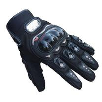 Towall Black Short Sports Leather Motorcycle Motorbike