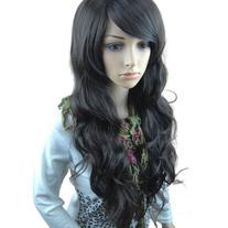 Black Long Curly Wig - 34