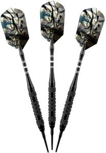 Viper Black Magic Soft Tip Darts, Medium Knurling, 18 Grams