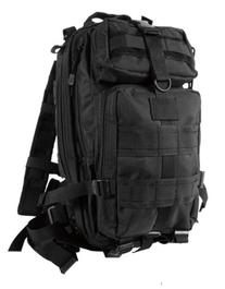 Black Military MOLLE Medium Transport Backpack