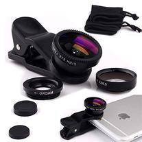 Luxsure iPhone 7 Lens, Universal 3 in 1 Phone Camera Lens