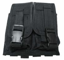 Taigear Black MOLLE Double Rifle Magazine Pouch--TG305B