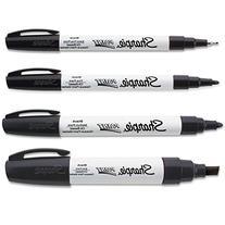 Sharpie Black Paint Marker Oil Based All 4-Sizes Kit Markers