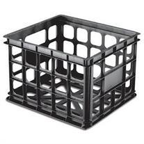 Black Plastic Storage Crate - Single Crate