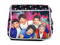 Black and Purple Stars One Direction Messenger Bag - One