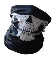 Black Skull Face Bandana Tube Mask Protector Use for