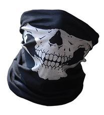 Helencasa Black Skull Face Bandana Tube Mask Protector Use
