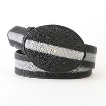 Black Stingray Rowstone Belt