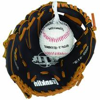 "Franklin Sports 9-1/2"" Black and Tan PVC Right-Handed"