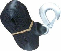 """Black Trailer Winch Replacement Strap 2"""" x 20' and Safety"""