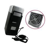 Black USB PC Mini Beverage Cans Cooler & Warmer Refrigerator