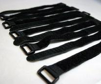"BlueDot 10 Pcs 8"" Black Self Adhesive Cable Ties 8-Inch Self"