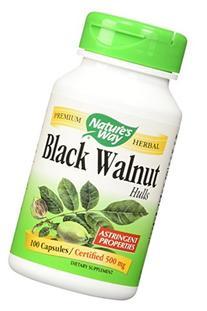 Nature's Way Black Walnut Hulls Capsules, 100 Count