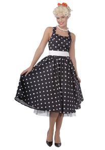 Black and White 50's Polka Dot Dress