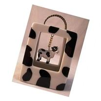 Black and White Cow Farm Animal Purse Porcelain Hinged
