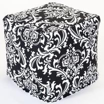 Majestic Home Goods Black and White French Quarter Cube,