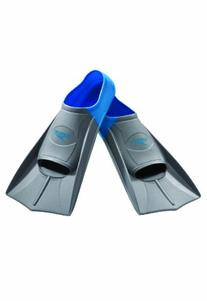 Speedo Short Blade Swim Training Fins, Blue, Medium