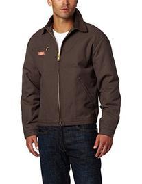 Dickies Men's Blanket Lined Duck Jacket, Black, Extra Large-