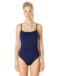 Anne Cole Women's Color Blast Shirred Maillot One Piece