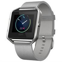 Fitbit Blaze Mist Grey Leather Accessory Strap Size Small