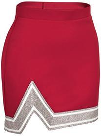 Chassé Girls' Blaze Skirt Red/White/Metallic Silver Youth