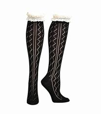 M&F Western Women's Blazin Roxx Fashion Sock Black Zigzag/