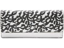COACH Bleecker Soft Wallet in Exotic Leather; Silver Black