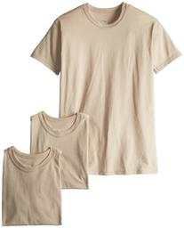 Soffe Men's Blend 3 Pack Military T-Shirts Sand X-large