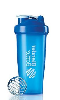 BlenderBottle Classic Shaker Bottle, Blue/Blue, 28-Ounce