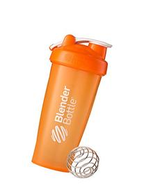 BlenderBottle Classic Loop Top Shaker Bottle, Orange/Orange