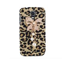 Leegoal Bling Diamond Bowknot Pearl gold Leopard Hard Case