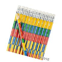 Fun Express Colored Block Brick Party Favor Pencils - 24