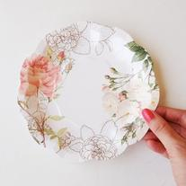 Talking Tables Blossom & Brogues Floral Paper Plates for a