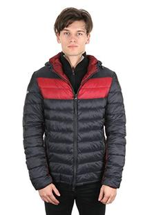 Armani Jean's Men's Blouson Winter Jacket In Bicolore