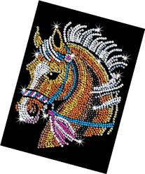 Sequin Art Blue, Horse, Sparkling Arts and Crafts Picture