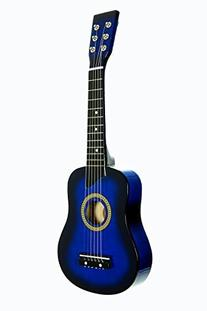 Blue Acoustic Toy Guitar for Kids with Carrying Bag and