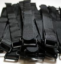 "BlueDot 100 Pcs 8"" Black Self Adhesive Cable Ties 8-Inch"