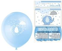"Blue Elephant Baby Shower 12"" Latex Balloons"