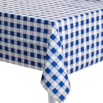 """Blue Gingham 54"""" x 108"""" Plastic Tablecover 12ct"""