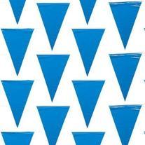 "500 Foot Blue Pennant Banner 12"" X 18"" Flags 240 Flags"